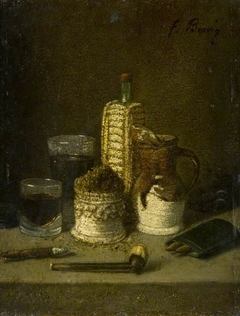 Still Life with a Tobacco Pot and a Pipe