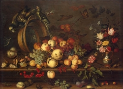 Still Life with Fruits, Shells and Insects