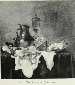 Still Life with Pitcher, Tazza, Fruit and Glass on a Table