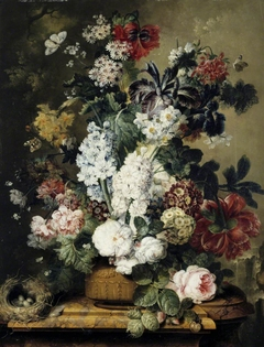 Still life with Roses, Peonies, Primroses, Narcissi and Hyacinths
