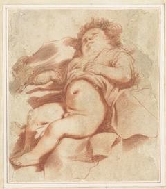 Studie van een slapend kind