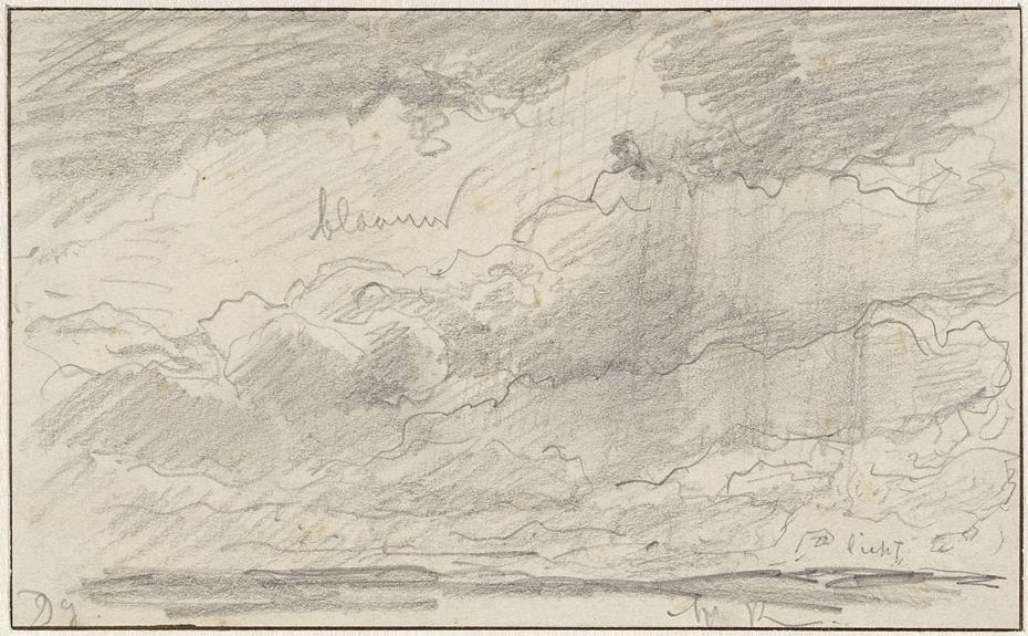 Studie van een wolkenlucht