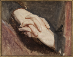 """Study of the hands of Sigismund Augustus for the painting """"Death of Barbara Radziwiłł"""""""