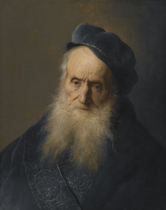 Study of the Head and Shoulders of an Old Bearded Man Wearing A Cap