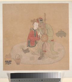 Tartar Officer with Blond Lady Playing Musical Instruments