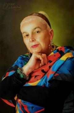 Teimuraz Kharabadze. Portrait of a Darejan Gvadzabia
