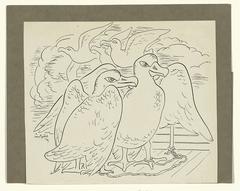 Tekening voor Baudelaire's 'L'Albatros'