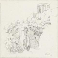 Tempel van de Sibylle in Tivoli, van onderen gezien