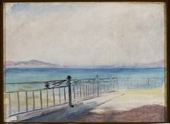 Terrace on the seaside. From the journey to Constantinople
