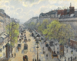 The Boulevard Montmartre on a Spring Morning - Le Boulevard Montmartre, Matinée de Printemps