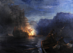 The Burning of the Turkish Flagship by Kanaris