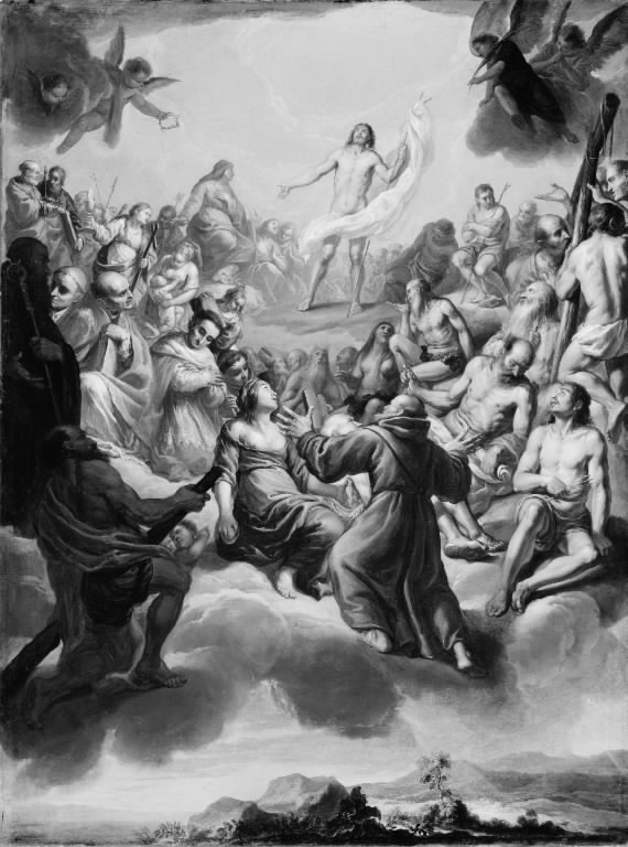 The Glorification of Christ surrounded by Saints