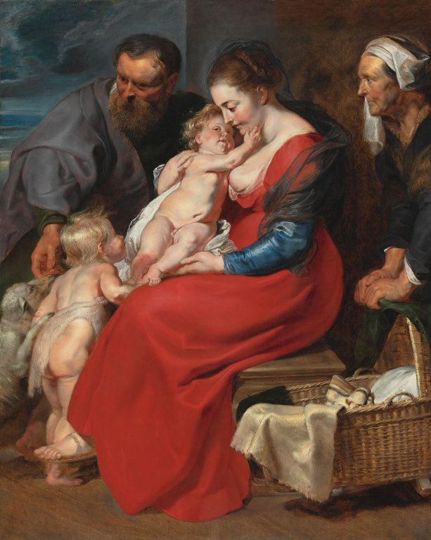 The Holy Family with Saint Elizabeth and Saint John