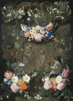 The Miracle Of St Bernard In A Garland Of Flowers