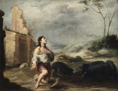The Prodigal Son Feeding Swine