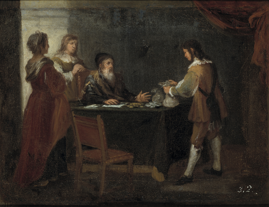 The Prodigal Son receiving his Inheritance