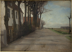 """The Road Leading past """"Store Godthaab"""", a Country House near Copenhagen"""
