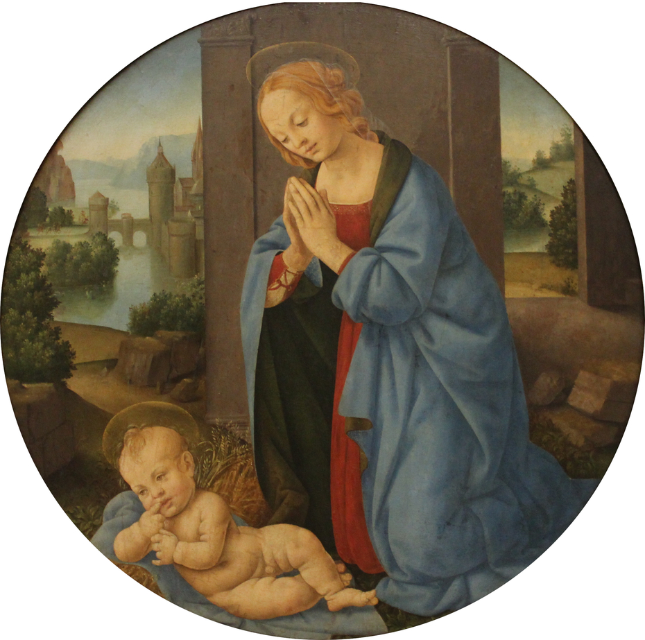 The Virgin adoring the Child