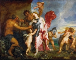 Thetis Receiving the Weapons of Achilles from Hephaestus