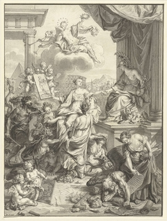Title Page Design with the Triumph of the Art Painting