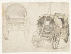 Twee reiswagens