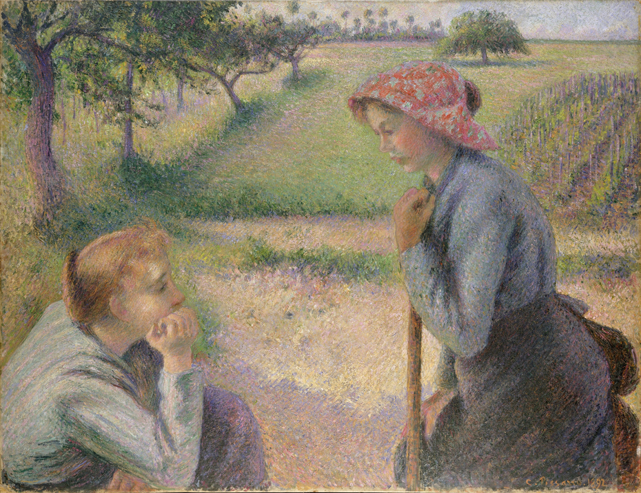 Two Young Peasant Women