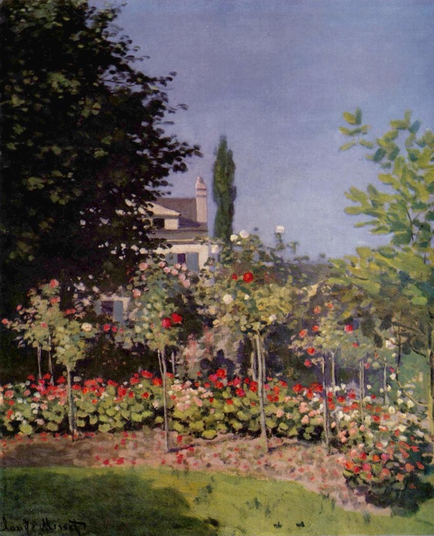 Jardin en fleurs, à Sainte-Adresse
