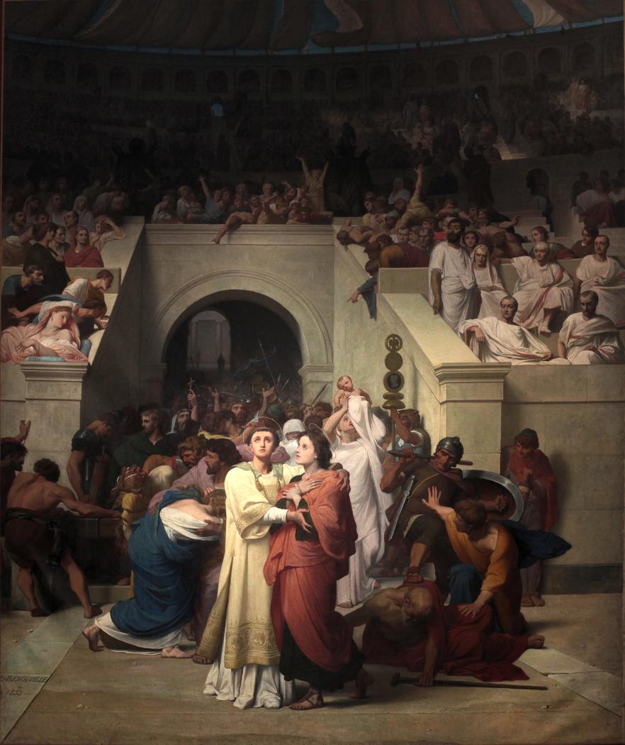 Martyrs chrétiens entrant à l'amphithéâtre (Christian Martyrs Entering the Amphitheater)
