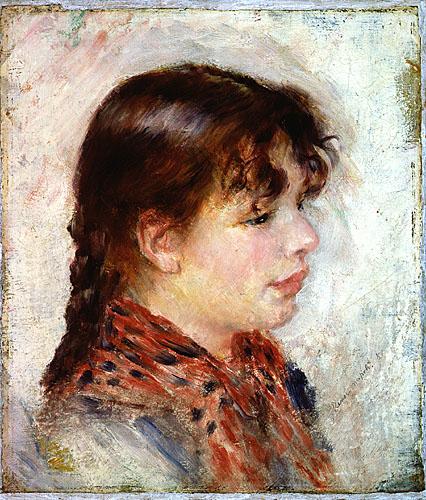 Tête de jeune fille napolitaine (Head of a young neapolitan girl)
