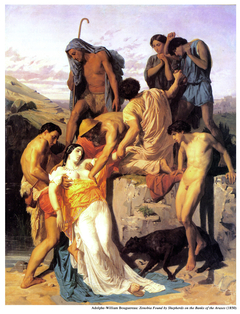 Zenobia found by Sheperds on the banks of the Araxes