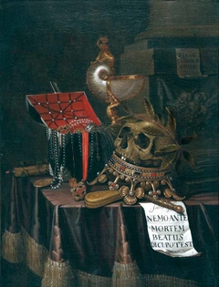 Vanitas Still Life with a Crowned Skull