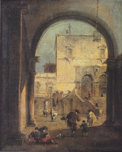 Venetian Capriccio: View of a Square and a Palace
