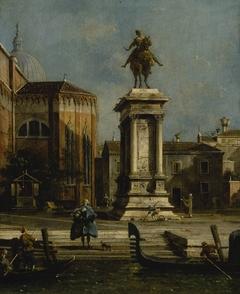 View of the Santi Giovanni e Paolo and the Equestrian Statue of Bartolomeo Colleoni