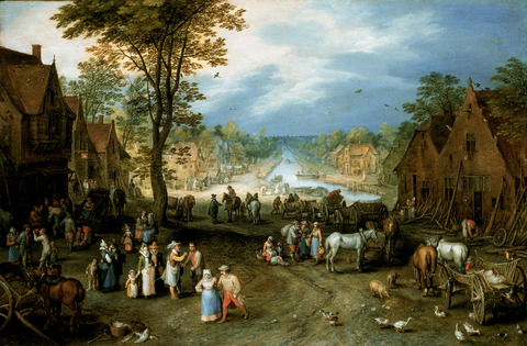Village Scene with a Canal