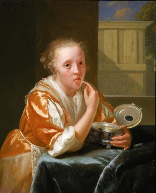 Young Girl Eating Sweets