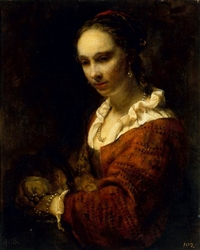 Young Woman with a Pearl Necklace, formerly called Hendrickje Stoffels