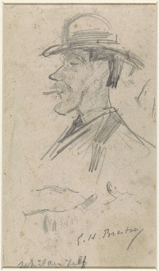 Zelfportret van Goerge Hendrik Breitner