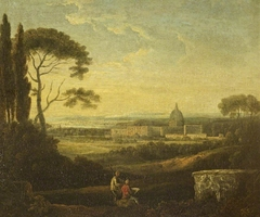 A Distant View of St Peter's Rome