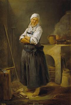 A Saxon Villager in her Kitchen