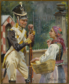 A Soldier and a Girl – in front of the Belvedere