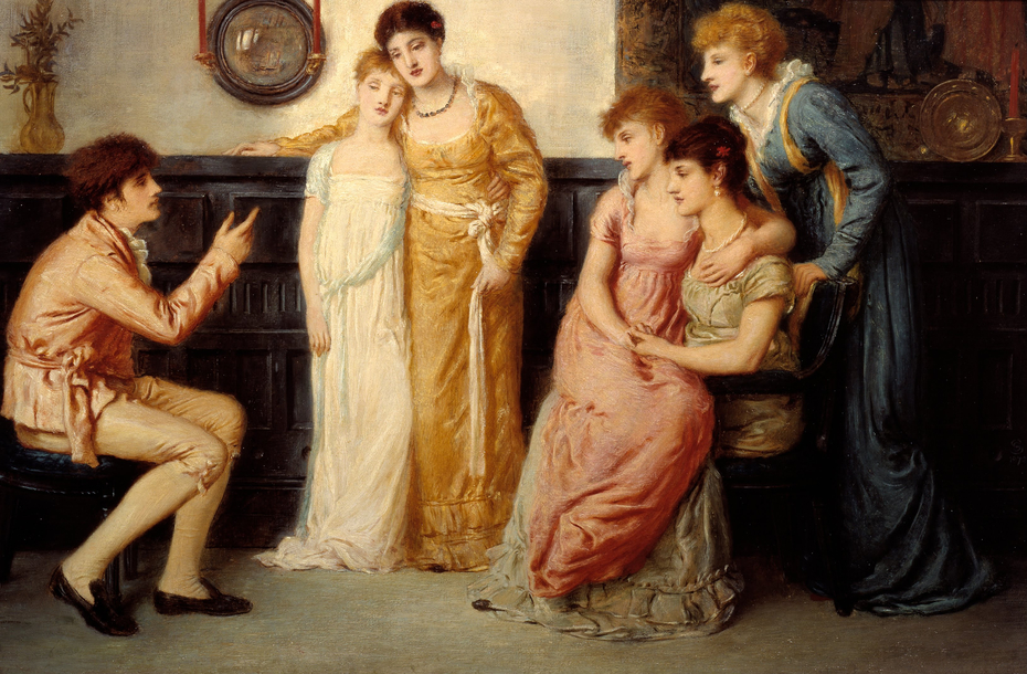 A Youth Relating Tales to Ladies