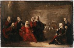 Allégorie des fiançailles de Louis XV avec l'infante Marie-Anne-Victoire d'Espagne