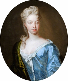 An Unknown Woman in a Blue Dress and a Green Mantle