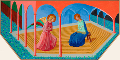 Annunciation 2, After Fra Angelico from The Brass Tacks Triptych