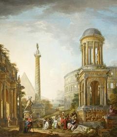 Architectural Capriccio with the Sacrifice of Iphigenia