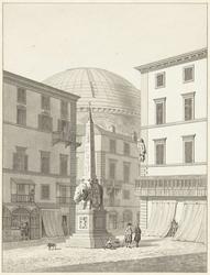 Bernini's monument voor Alexander VII op de piazza della Minerva te Rome