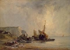 Boats near Shore of Normandy