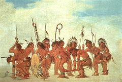 Braves' Dance at Fort Snelling
