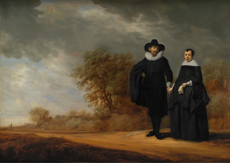 Burgomaster Cornelis Damasz. van der Gracht and his Wife, Jopken Jacobs, in a Landscape