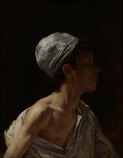 Bust of an Arab Boy in Profile